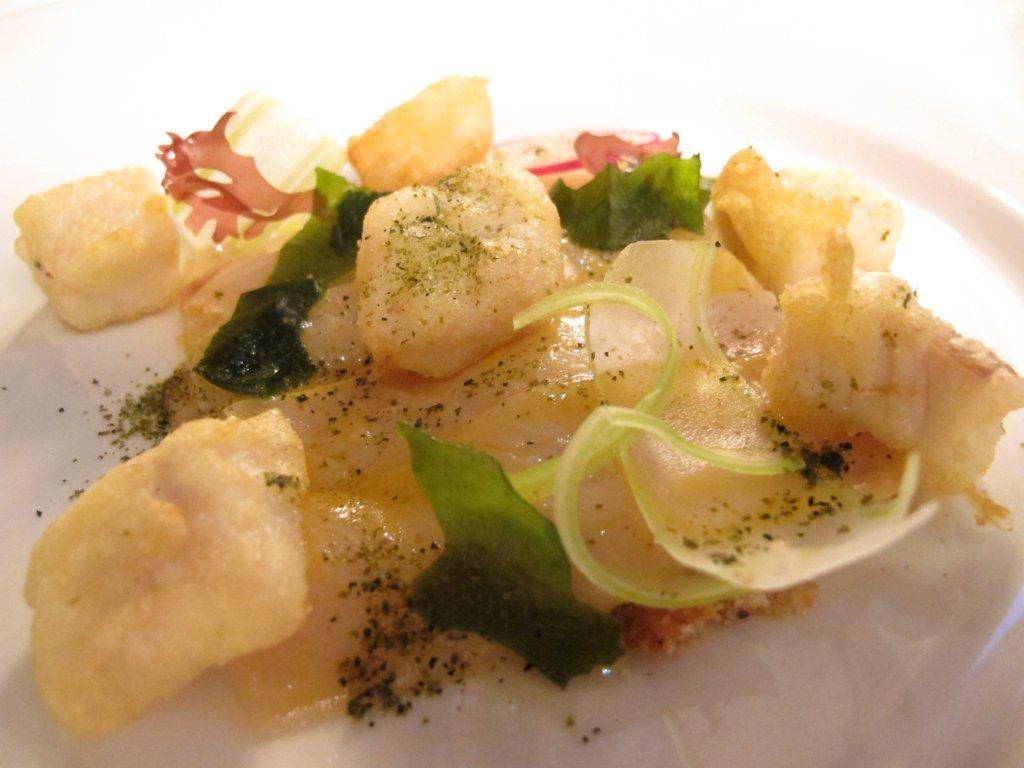 ricciola marinata, Gellius, Chef Alessandro Breda, Oderzo, Treviso