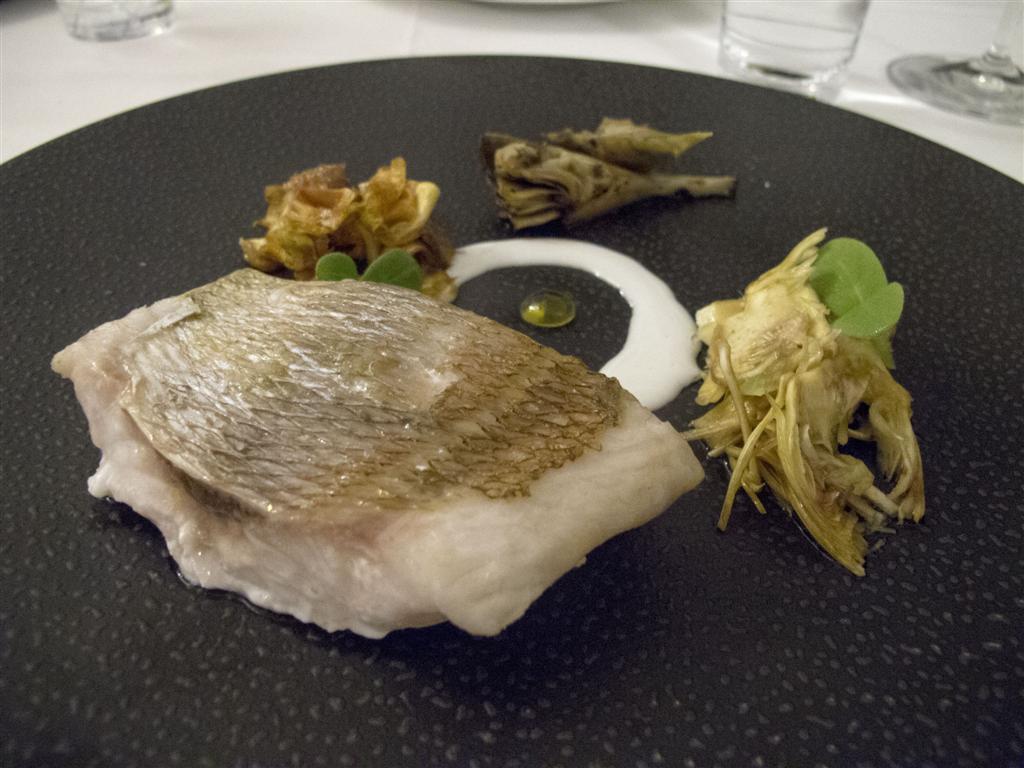 pesce in variazione di carciofi, Quattro Passi, Tonino Mellino, Nerano