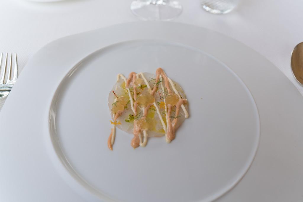Carpaccio di branzino, Da Vittorio, Fratelli Cerea, Brusaporto, Bergamo