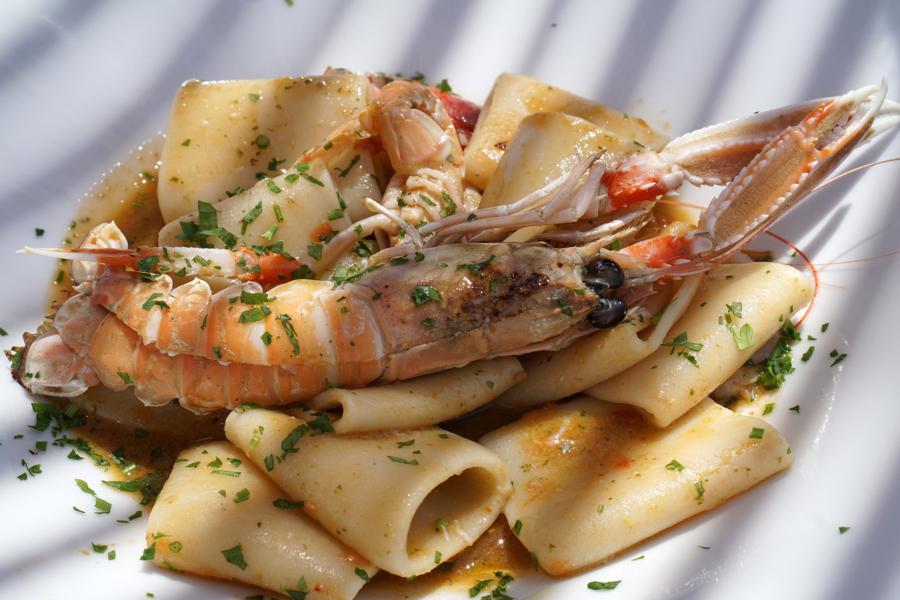 paccheri, Ristorante A Valata, Pozzallo, Ragusa, Sicilia