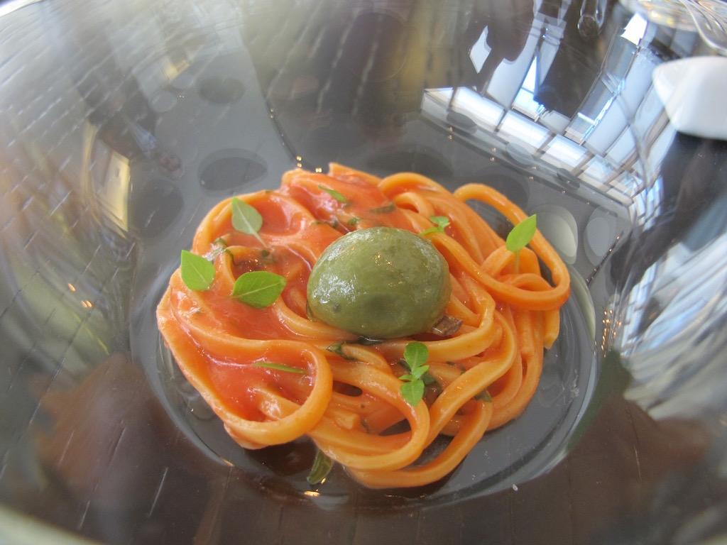 insalata di spaghetti, Berton, Chef Andrea Berton, Milano