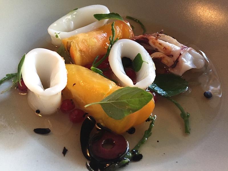 calamari, Café Sillon, Chef Matthieu Rostaing-Tayard, Lyon