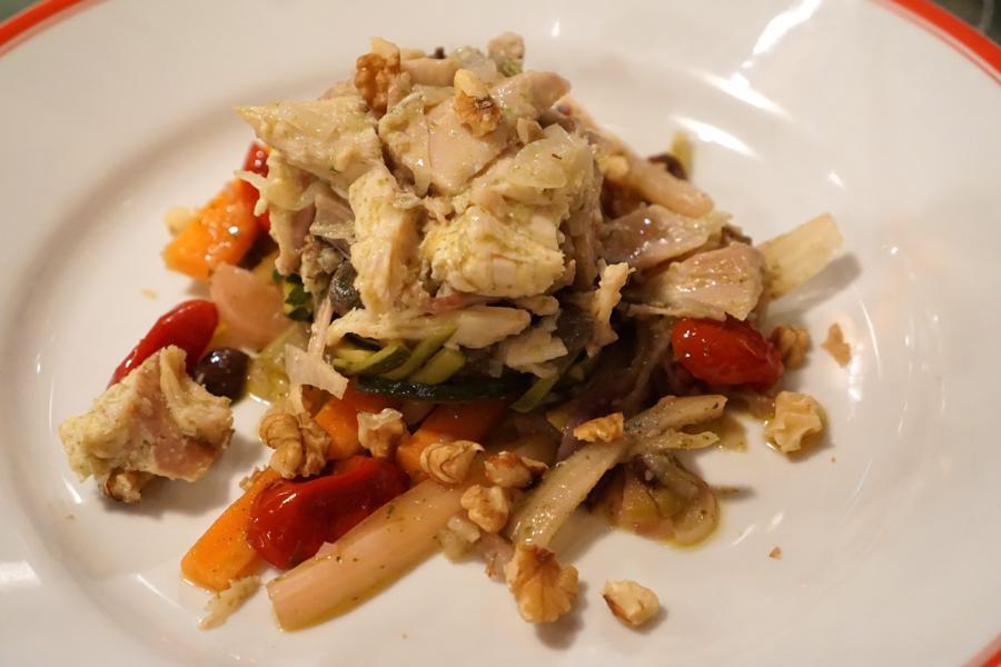 insalata, gallina, Al Pompiere, Chef Marco Dandrea, Verona