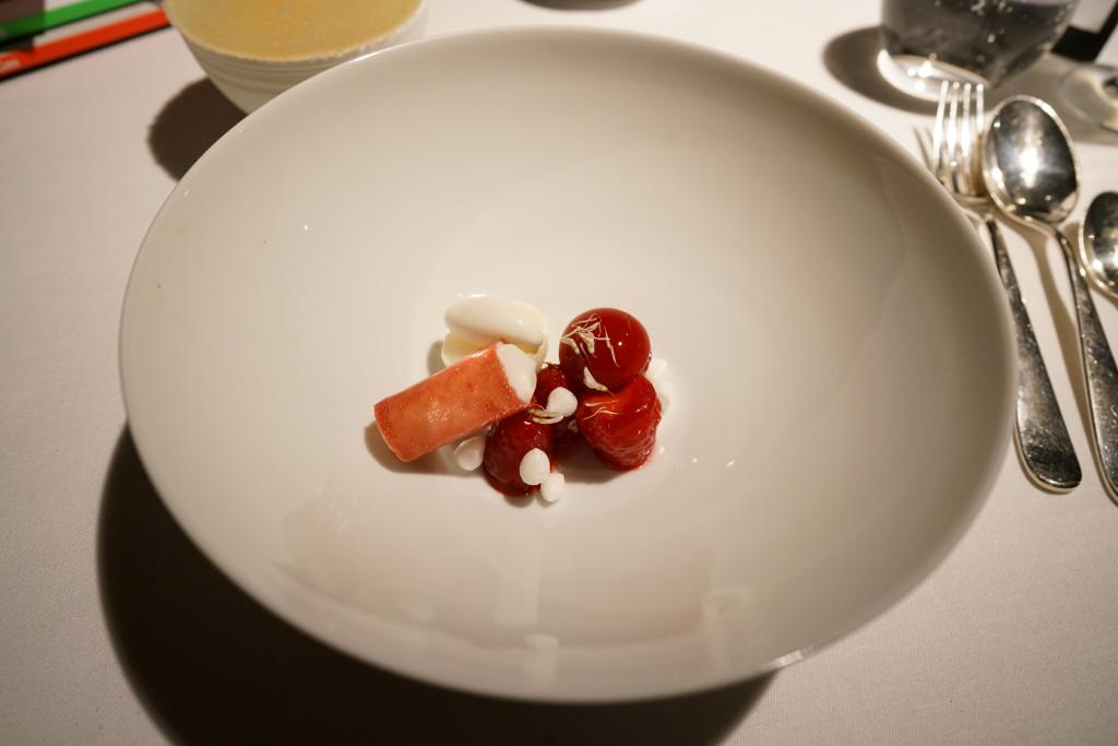 lampone, crema, gelatina, Schloss Schauenstein, Chef Andreas Caminada, Svizzera