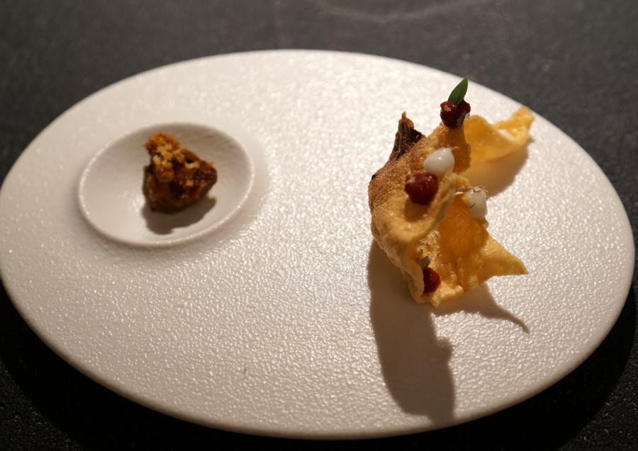 appetizer, chef Massimiliano Poggi, Trebbo, Bologna