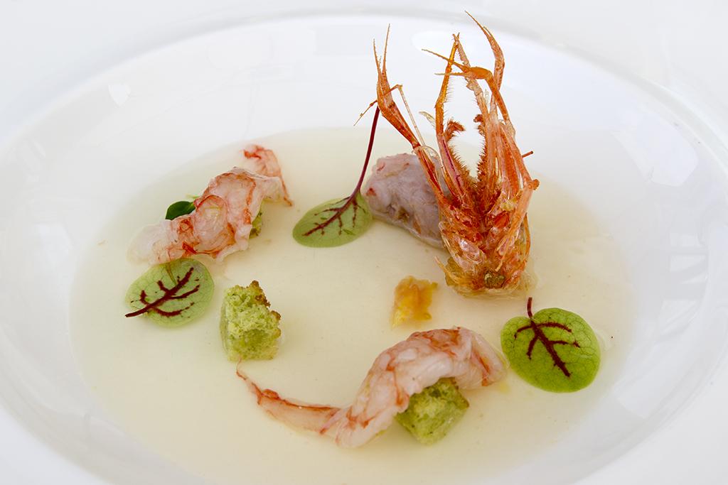 gambero viola, Il Marin, Chef Marco Visciola, Eataly, Genova