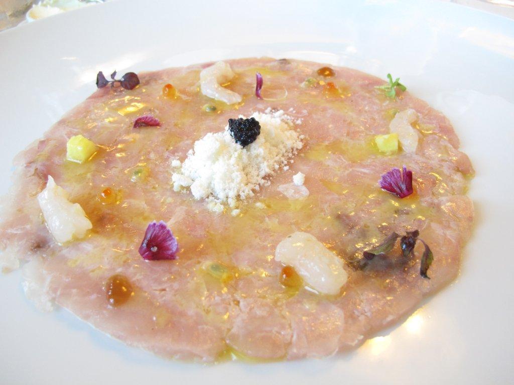carpaccio di ricciola, President, chef Paolo Gramaglia, Pompei, Napoli