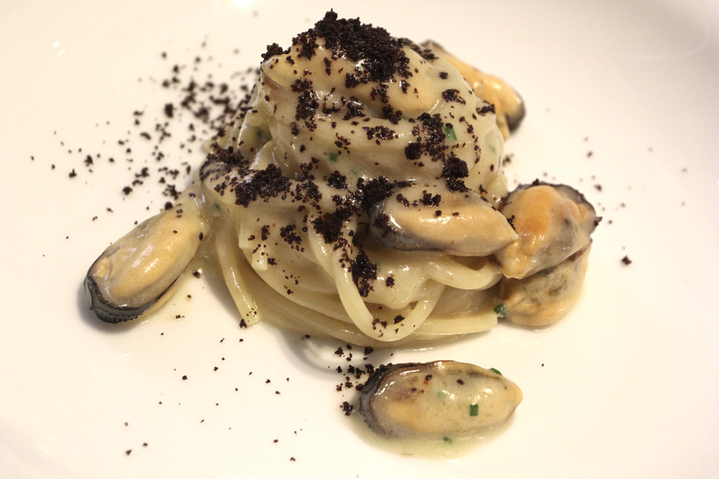 spaghetto, Quintessenza, Chef Stefano Di Gennaro, Trani, Barletta, Puglia