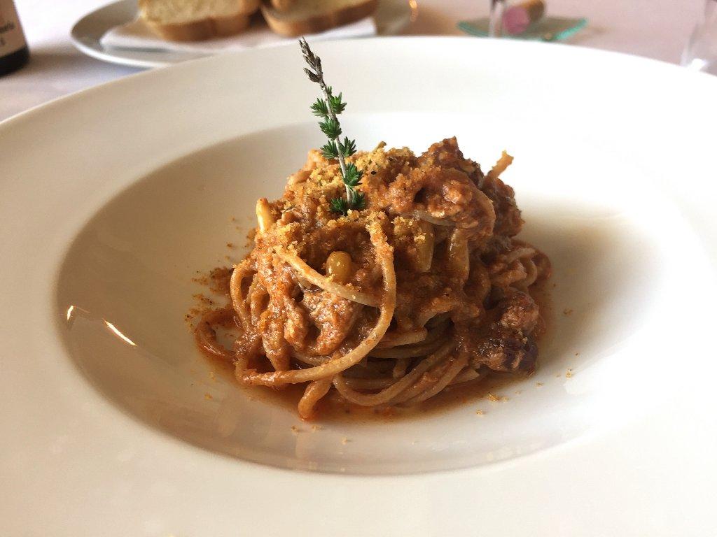 pasta con le sarde,  Locanda Gulfi, Chef Ninni Radicini, Chiaramonte Gulfi, Ragusa, Sicilia