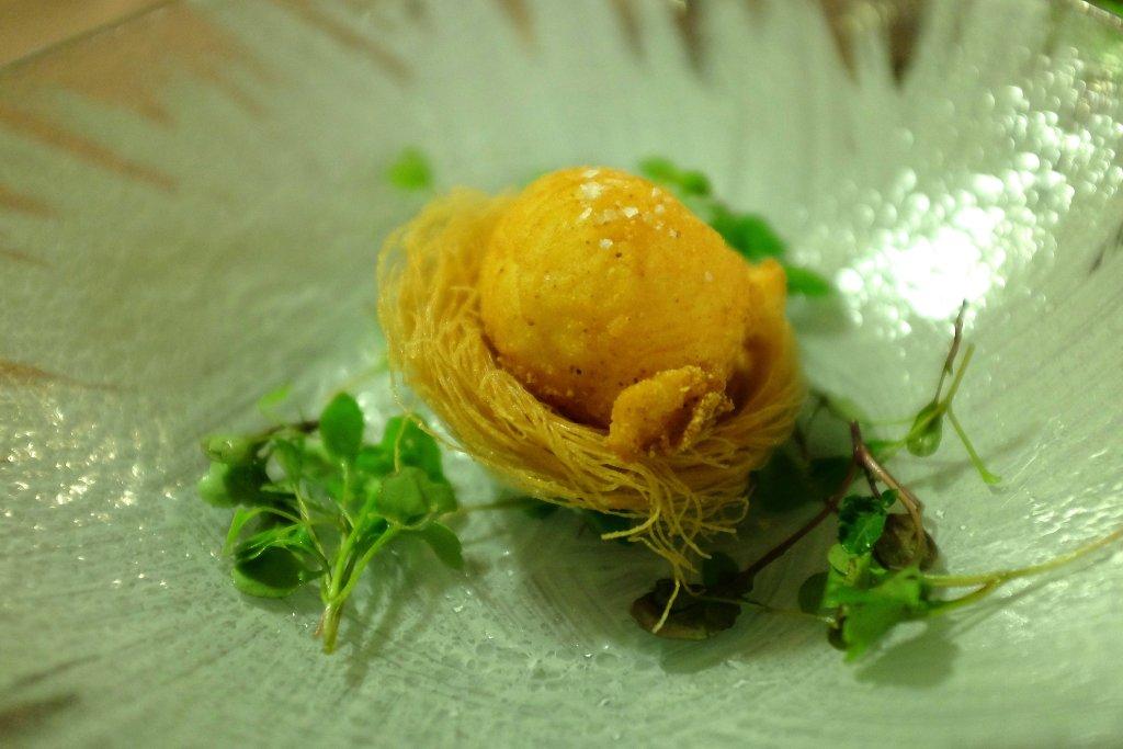 uovo fritto, Taverna Migliore, Chef Lorenzo Ruta, Modica, Sicilia