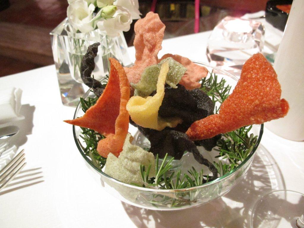 chips, Le Trabe, Chef Peppe Stanzione, Paestum Capaccio, Salerno
