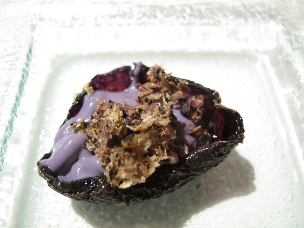 patata viola, Le Trabe, Chef Peppe Stanzione, Paestum Capaccio, Salerno