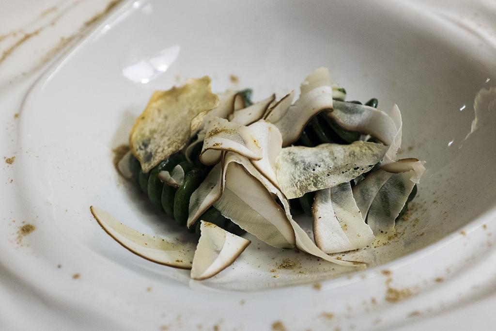 fusilli al plancton, Ristorante Cracco, Chef Carlo Cracco, Milano