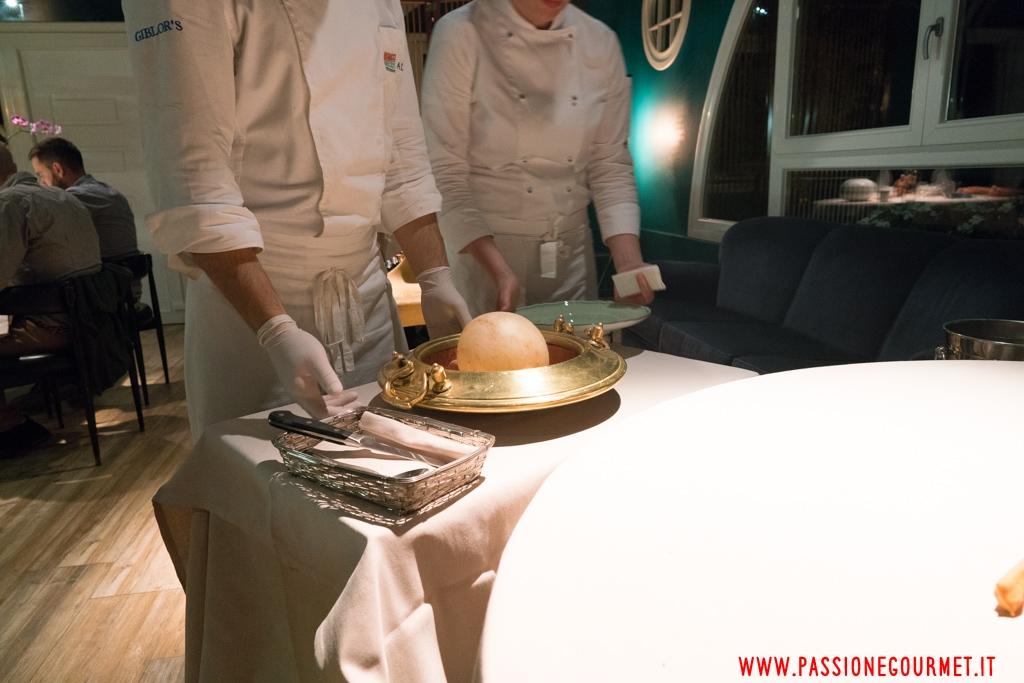 cacio e pepe in vescica, Lido 84, Chef Riccardo Camanini, Gardone Riviera, Brescia
