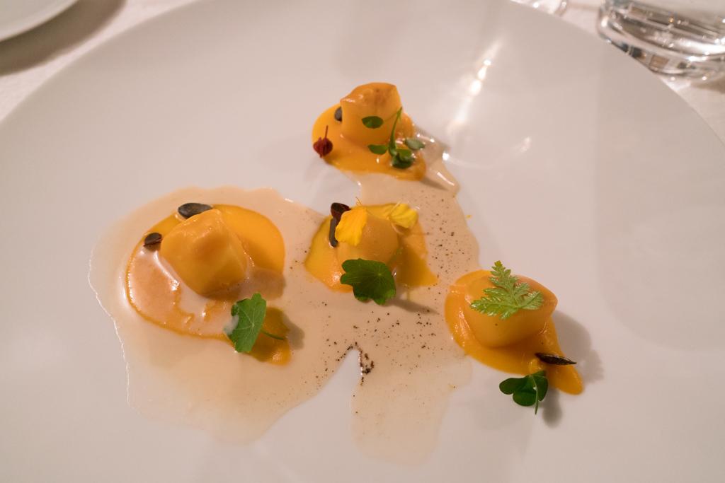 perla bianca, La Madernassa, Chef Michelangelo Mammoliti, Guarente, Cuneo, Piemonte