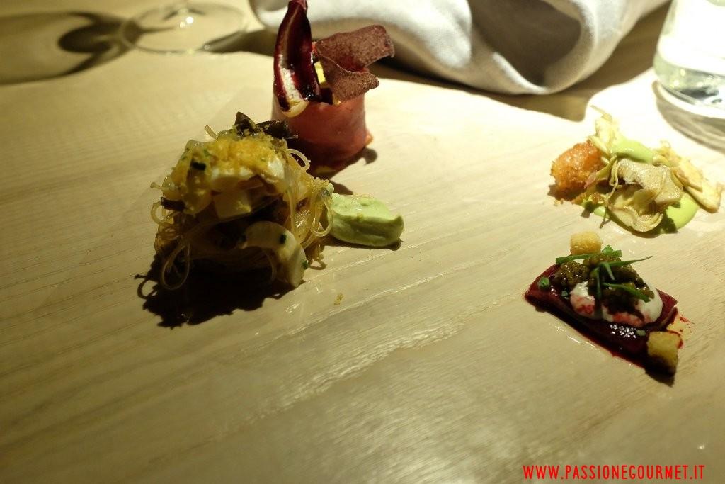 Le Calandre: Nudo e crudo di carne e di pesce 1