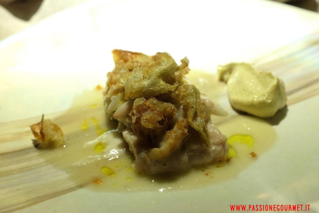 Le Calandre: Rombo con finta maionese di pastinaca e carciofi fritti